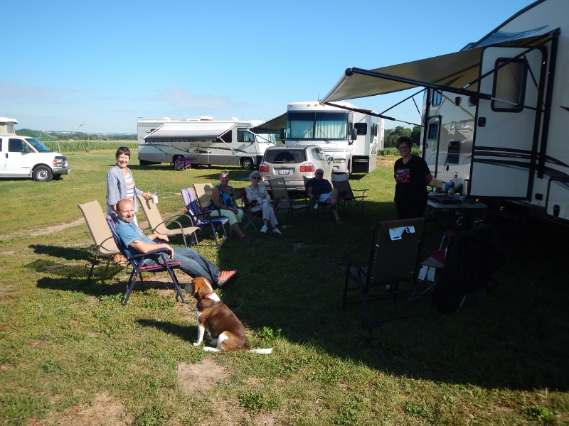 2015 Runway       Campout Gang Relaxes