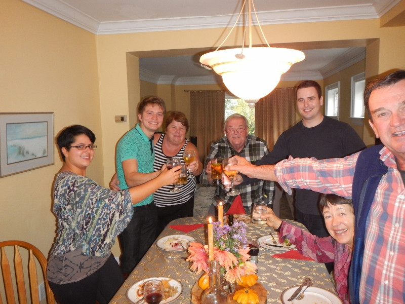 2015 Thanksgiving dinner in Scarborough